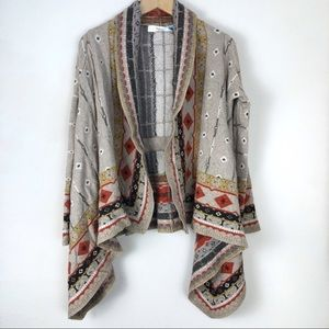 Anthropologie Sparrow Open Front Cardigan Sz Small